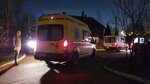 Ambulances are parked at a retirement home after a fire, in Moscow, Russia, Thursday, April 9, 2020. A fire in a retirement home in Moscow killed at least four people and injured more then ten others, but firefighters managed to rescue 50 people from the burning building, emergency officials said Thursday. (Kirill Voronin, Moscow News Agency photo via AP)