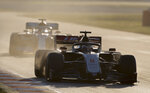 Haas driver Romain Grosjean of France drives during the Formula One pre-season testing session at the Barcelona Catalunya racetrack in Montmelo, outside Barcelona, Spain, Wednesday, Feb. 26, 2020. (AP Photo/Joan Monfort)