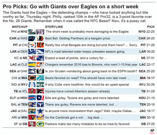 NFL PICKS WK 6