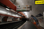 Empty platforms in a closed subway, in Paris, Sunday, Dec. 8, 2019 on the fourth day of nationwide strikes that disrupted weekend travel around France. (AP Photo/Francois Mori)
