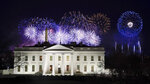 Fireworks are displayed over the White House as part of Inauguration Day ceremonies for President Joe Biden and Vice President Kamala Harris, Wednesday, Jan. 20, 2021, in Washington. (AP Photo/David J. Phillip)