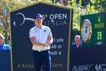 Britain's Matt Wallace looks at his shot during the third day of the Golf Italian Open 2019, in Rome, Saturday, Oct. 12, 2019. (Giorgio Maiozzi/ANSA via AP)