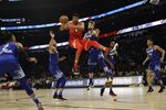 Giannis Antetokounmpo of the Milwaukee Bucks looks to pass during the second half of the NBA All-Star basketball game Sunday, Feb. 16, 2020, in Chicago. (AP Photo/Nam Huh)
