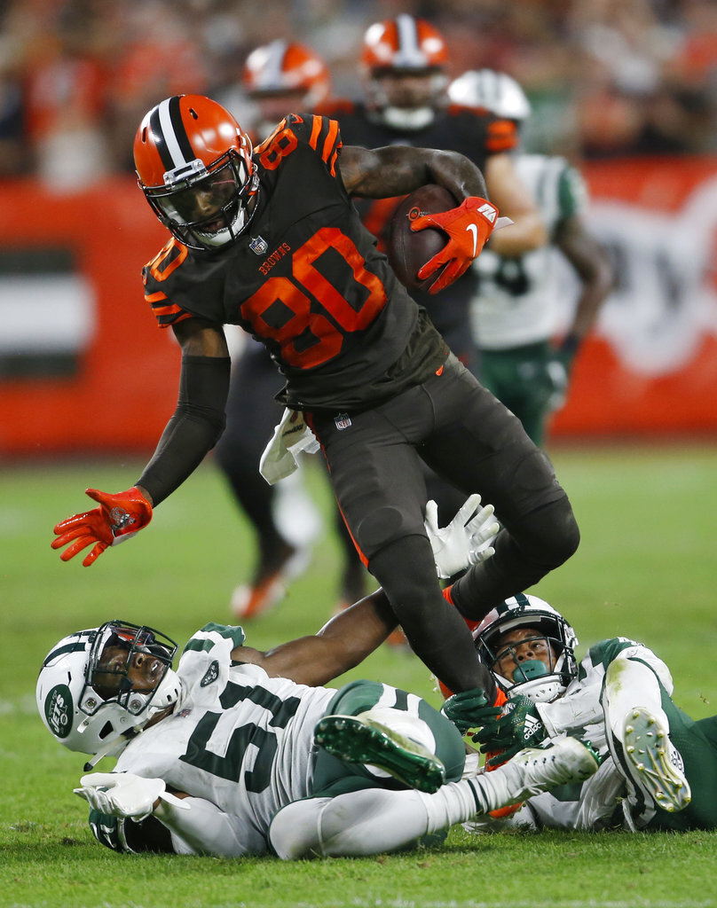 APTOPIX Jets Browns Football
