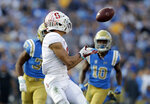 Stanford wide receiver Osiris St. Brown make a touchdown catch against UCLA during the second half of an NCAA college football game Saturday, Nov. 24, 2018, in Pasadena, Calif. (AP Photo/Marcio Jose Sanchez)