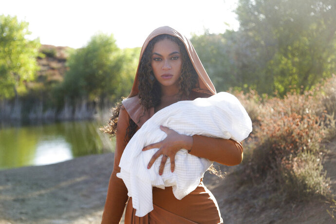 This image released by Disney Plus shows Beyoncé in a scene from her visual album