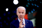 Democratic presidential candidate former Vice President Joe Biden speaks at the Brown & Black Forum at the Iowa Events Center, Monday, Jan. 20, 2020, in Des Moines, Iowa. (AP Photo/Andrew Harnik)