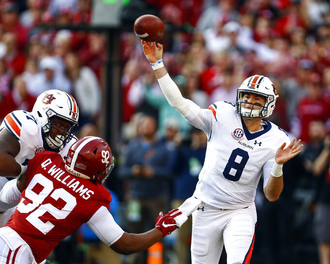 Auburn QB Jarrett Stidham to enter draft after bowl game