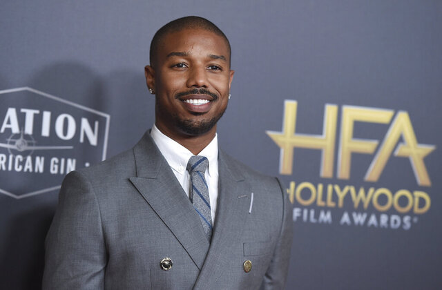 FILE - Michael B. Jordan arrives at the Hollywood Film Awards on Nov. 4, 2018, in Beverly Hills, Calif. Jordan has been crowned as 2020's Sexiest Man Alive by People magazine. Known for his critically-acclaimed performances in
