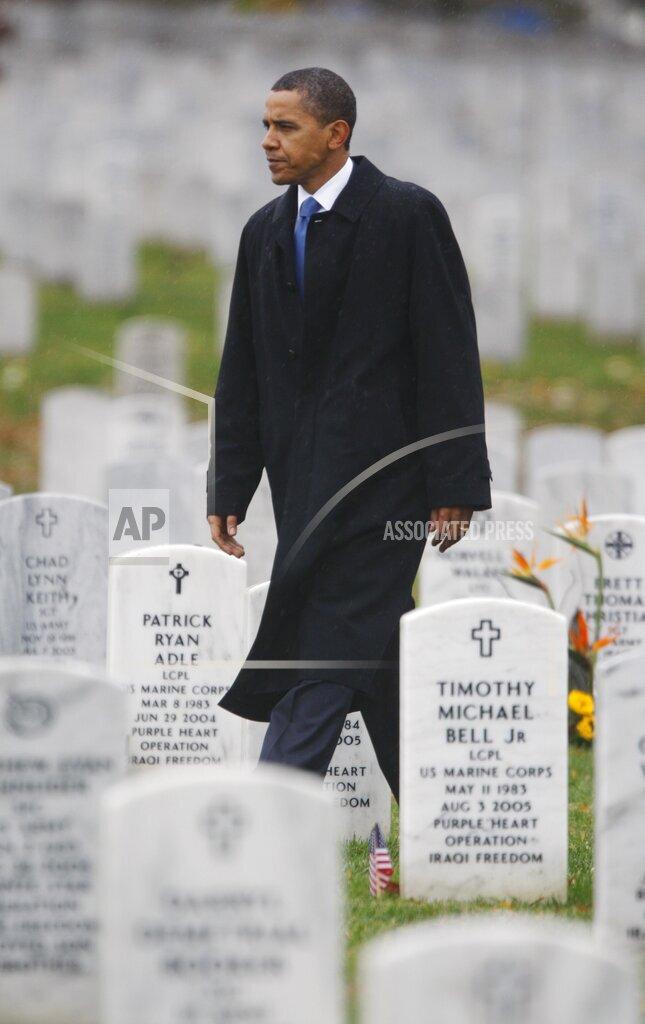 APTOPIX Obama Veterans
