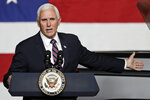 Vice President Mike Pence speaks at the launch of the electric Endurance pickup truck at Lordstown Motors Corporation, Thursday, June 25, 2020, in Lordstown, Ohio. (AP Photo/Tony Dejak)