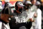 New York Jets head coach Adam Gase watches play against the Kansas City Chiefs in the second half of an NFL football game on Sunday, Nov. 1, 2020, in Kansas City, Mo. (AP Photo/Charlie Riedel)
