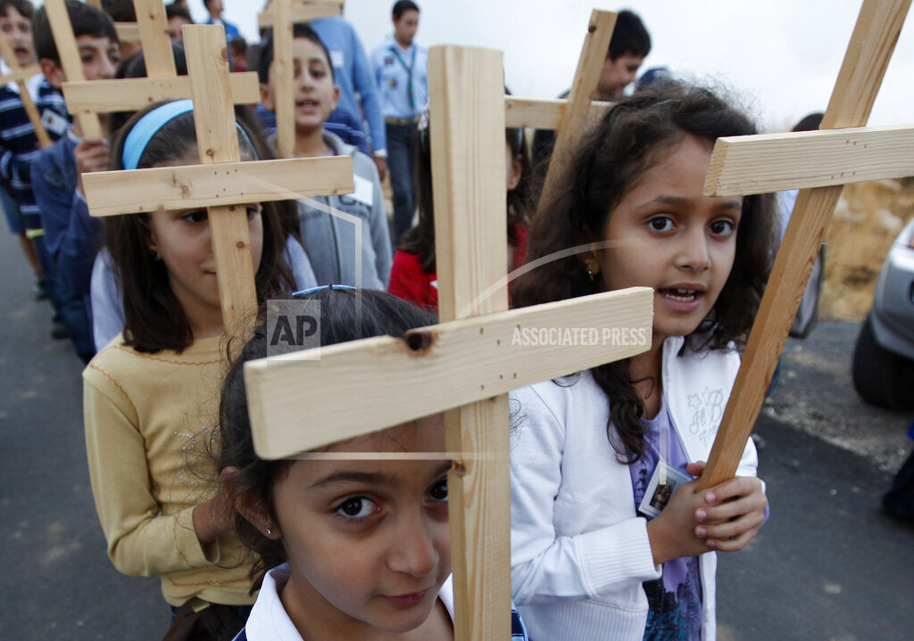 Mideast Lebanon Cross