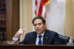 Committee Chairman Sen. Marco Rubio, R-Fla., speaks during a Senate Small Business and Entrepreneurship hearing to examine implementation of Title I of the CARES Act, Wednesday, June 10, 2020 on Capitol Hill in Washington. (Al Drago/Pool via AP)