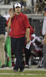 FILE- In this Oct. 28, 2017, file photo, Austin Peay head coach Will Healy watches during the second half of an NCAA college football game against Central Florida in Orlando, Fla. After falling to Alabama in last season's national championship game, No. 3 Georgia opens a fresh start with hopes for another title run when the Bulldogs face Austin Peay on Saturday. (AP Photo/Willie J. Allen Jr., File)
