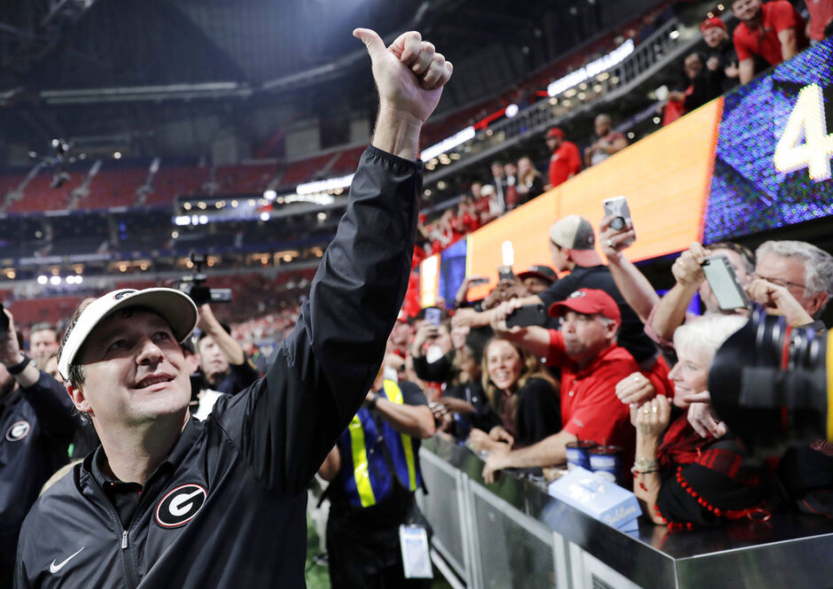 Rose Bowl Georgia-Smart's Shot Football