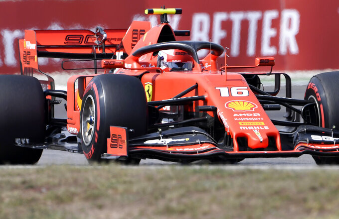Ferrari tops both practice sessions at sweltering German GP