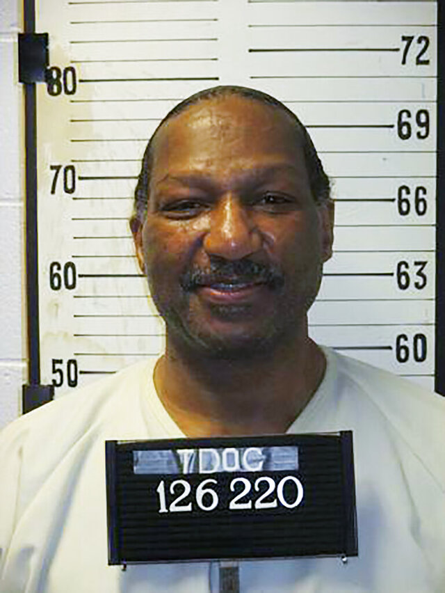 This undated photo provided by the Tennessee Department of Correction shows Byron Black. Tennessee has set two new execution dates, just days after putting to death its seventh inmate in the past year-and-a-half. On Monday, the Tennessee Supreme Court ordered an Oct. 8 execution date for inmate Black and a Dec. 3 execution date for Pervis Payne. (Tennessee Department of Correction via AP)
