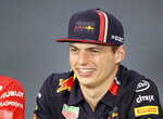 Red Bull driver Max Verstappen of the Netherlands smiles during a press conference prior to the Formula One Grand Prix at the Red Bull Ring in Spielberg, southern Austria, Thursday, June 27, 2019. The Formula One race will be held on Sunday. (AP Photo/Ronald Zak)