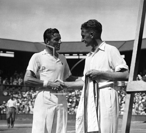 England Tennis Fred Perry with Jack Crawford
