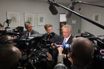 Joe Deters, Hamilton County District Attorney, speaks to the media after Samuel Little plead guilty to two murders from a video feed from a state prison in California to the Hamilton County Courthouse in Cincinnati. Authorities have said they have confirmed at least 60 of the 93 slayings he says he committed in 14 states while he crisscrossed the country for decades. (Albert Cesare /The Cincinnati Enquirer via AP)