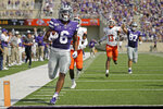 Kansas State running back Jordon Brown (6) runs for a touchdown during the first half of an NCAA college football game against Bowling Green Saturday, Sept. 7, 2019, in Manhattan, Kan. (AP Photo/Charlie Riedel)