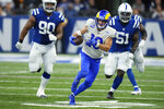 Los Angeles Rams' Cooper Kupp (10) runs during the second half of an NFL football game against the Indianapolis Colts, Sunday, Sept. 19, 2021, in Indianapolis. (AP Photo/AJ Mast)