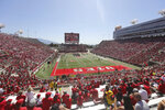 Utah fans show their support before the start of their NCAA college football game against Idaho State Saturday, Sept. 14, 2019, in Salt Lake City. (AP Photo/Rick Bowmer)