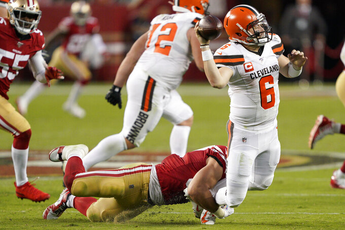 No. 1 pick to No. 1 in picks, Browns QB Mayfield struggling
