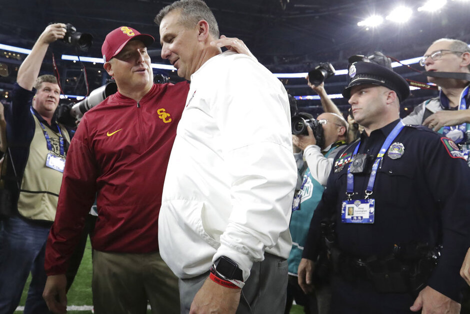 Urban Meyer, Clay Helton