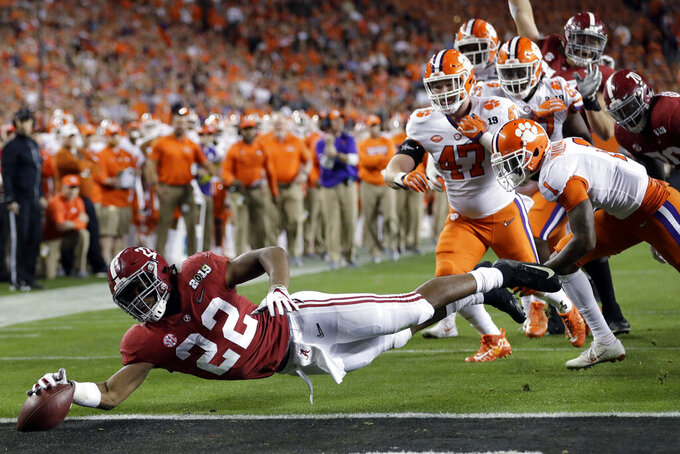 Najee Harris finally gets to be Alabama's primary runner