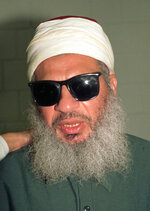 FILE-- This Nov. 1993 file photo shows Sheik Omar Abdel-Rahman. The crime of sedition has rarely been prosecuted in U.S. history. The last person to be convicted of that offense was Sheikh Omar Abdel-Rahman, whose anti-American sermons inspired a plot to blow up New York City landmarks. (AP Photo, File)