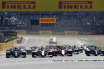 Drivers start the British Formula One Grand Prix, at the Silverstone circuit, in Silverstone, England, Sunday, July 18, 2021. (AP Photo/Jon Super)
