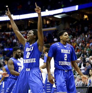 APTOPIX NCAA Middle Tennessee Michigan St Basketball