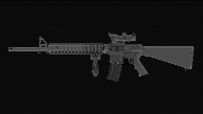 Graphic depicting an M16 rifle. (AP Illustration/Peter Hamlin)