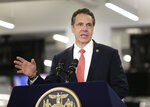New York Gov. Andrew Cuomo speaks before signing the Child Victims Act in New York, Thursday, Feb. 14, 2019. Cuomo has signed into law long-sought legislation that extends the statute of limitations so sexual abuse victims can have more time to seek criminal charges or file lawsuits. (AP Photo/Seth Wenig)