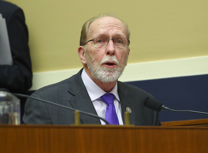 FILE - In this April 26, 2018 file photo, Rep. David Loebsack, D-Iowa, speaks during a hearing on Capitol Hill in Washington. Loebsack announced Friday, April 12, 2019 he won't seek re-election when his current term ends. Loebsack was elected seven times to represent southeast Iowa's 2nd Congressional District. (AP Photo/Pablo Martinez Monsivais File)