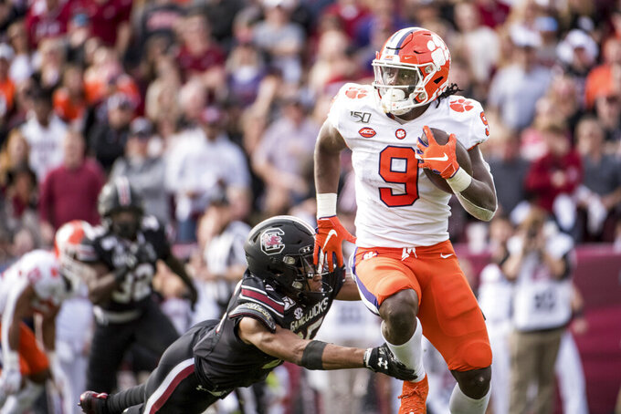 Lawrence, No. 3 Clemson dominate South Carolina 38-3