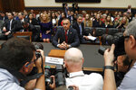 Corey Lewandowski, the former campaign manager for President Donald Trump, arrives to testify to the House Judiciary Committee Tuesday, Sept. 17, 2019, in Washington. (AP Photo/Jacquelyn Martin)