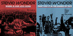 """This combination of images released by So What The Fuss Music shows cover art for two new songs by Stevie Wonder, """"Where Is Our Love Song,"""" left, and """"Can't Put It In the Hands of Fate."""" released through his new label, So What the Fuss Music, distributed through Universal Music Group's Republic Records. (AP Photo)"""