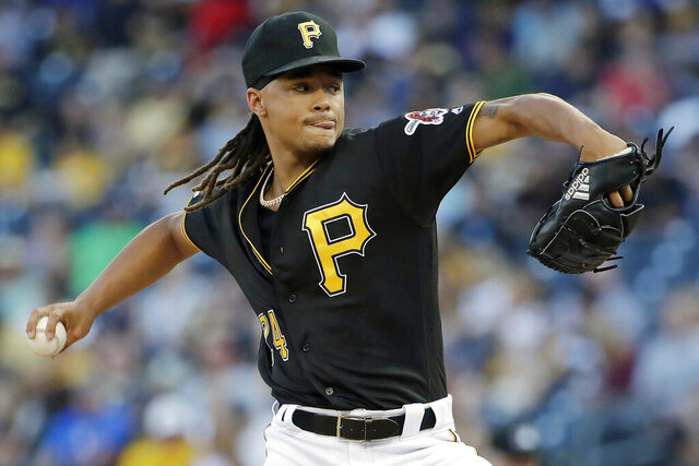 FILE - In this Aug. 3, 2019, file photo, Pittsburgh Pirates starting pitcher Chris Archer delivers during the first inning of a baseball game against the New York Mets, in Pittsburgh. Archer won't pitch for the Pirates in 2020 and his time with the club may be over. Pittsburgh announced Wednesday, June 3, 2020, that 31-year-old Archer underwent surgery to relieve symptoms of thoracic outlet syndrome. The procedure was conducted on Tuesday in St. Louis, and the Pirates said Archer will not be available this season if Major League Baseball finds a way to put together a truncated schedule.(AP Photo/Gene J. Puskar, FIle)
