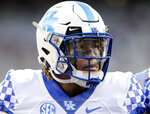 Kentucky running back Benny Snell Jr. (26) before an NCAA college football game Saturday, Oct. 6, 2018, in College Station, Texas. (AP Photo/Michael Wyke)