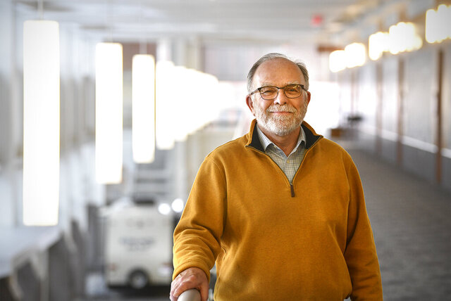 Tony Goddard poses Monday, Dec. 30, 2019, at the River's Edge Convention Center in St. Cloud, Minn. Goddard, the city's former director of community services and facilities, retired at the end of 2019. (Dave Schwarz/The St. Cloud Times via AP)