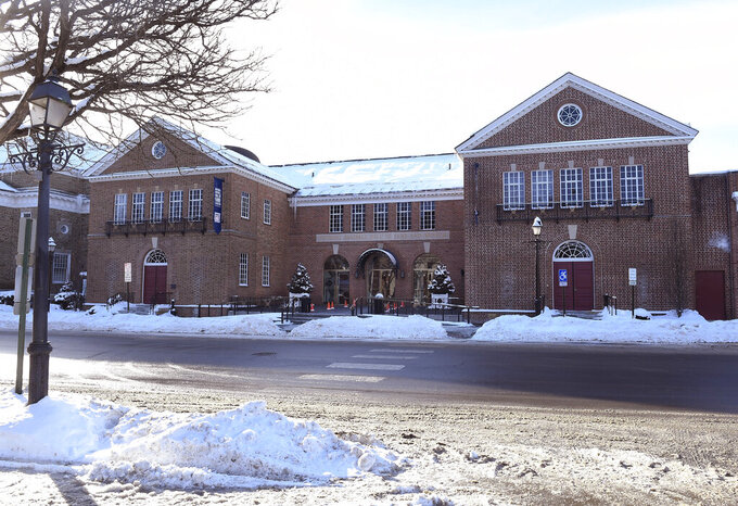 FILE- In this Feb. 1, 2019, file photo, the National Baseball Hall of Fame and Museum stands in Cooperstown, N.Y. On Saturday, March 14, 2020, the hall said it will close to the public beginning Sunday at 5 p.m. due to the coronavirus outbreak. (AP Photo/Hans Pennink, File)