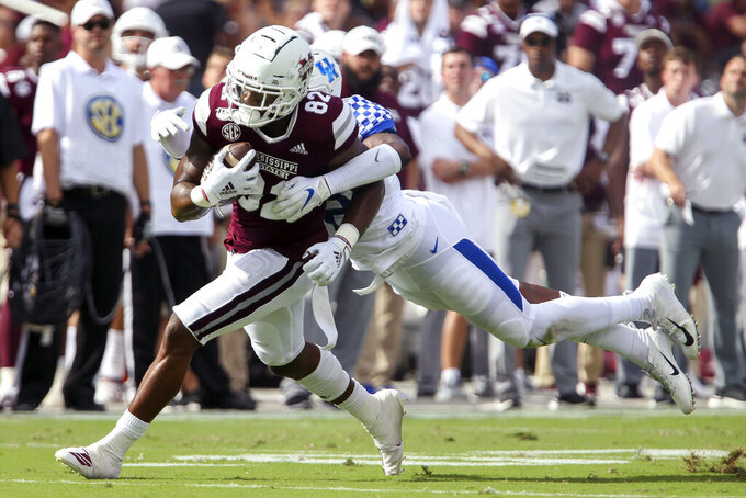 Hill Leads Mississippi State to 28-13 win over Kentucky