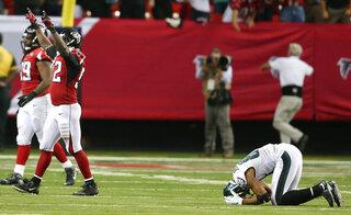 APTOPIX Eagles Falcons Football