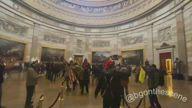 Pro-Trump Protesters Enter Capitol Rotunda in Washington