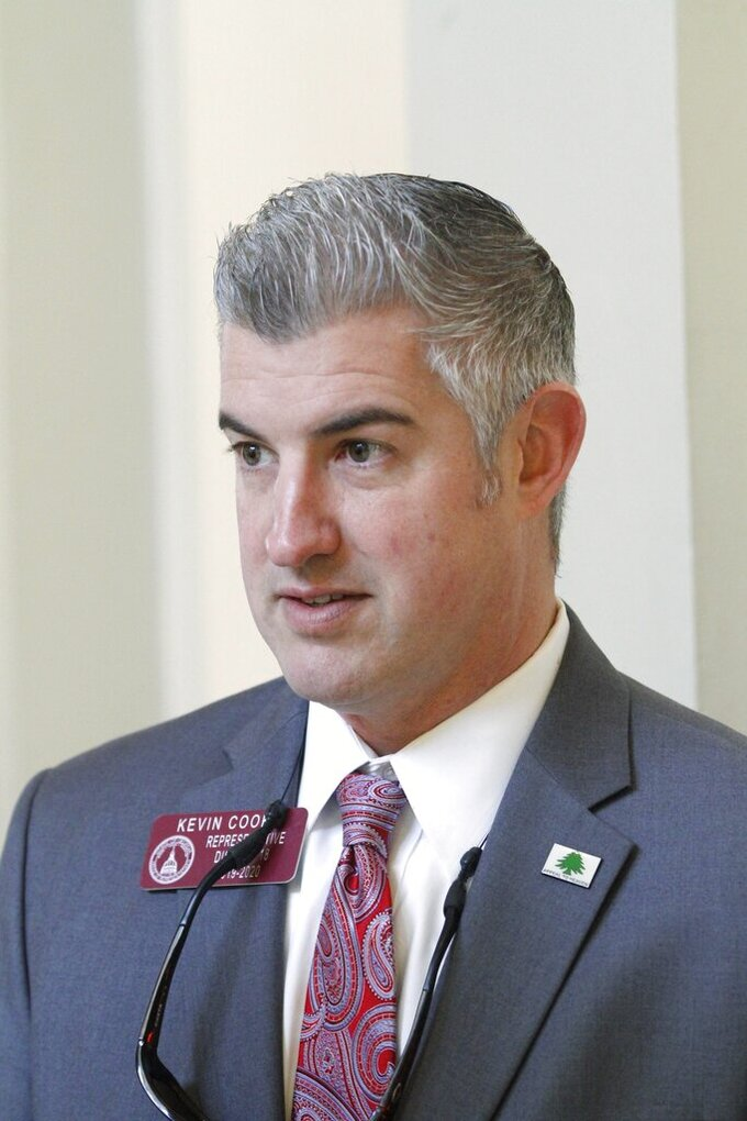 This Feb. 21, 2020 photo, shows state Rep. Kevin Cooke,  one of nine Republicans running in the Tuesday, June 9, 2020, primary election for the party's nomination to northwest Georgia's 14th Congressional District. (The Times-Georgian via AP/The Times-Georgian via AP)