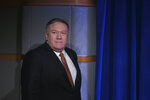 Secretary of State Mike Pompeo arrives for a news conference at the State Department, in Washington, Friday, March 15, 2019. (AP Photo/Carolyn Kaster)