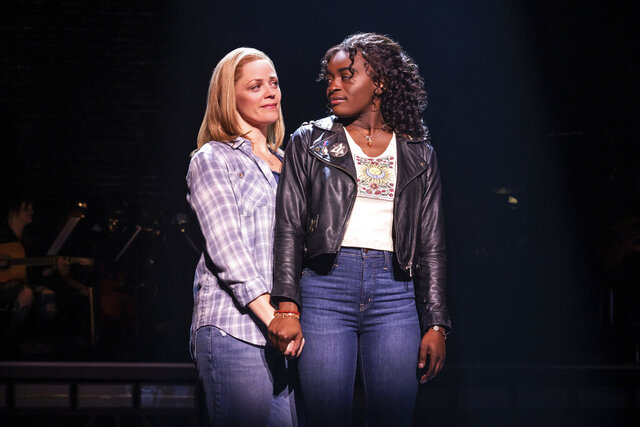 This image released by Vivacity Media Group shows Elizabeth Stanley, left, and Celia Rose Gooding during a performance of